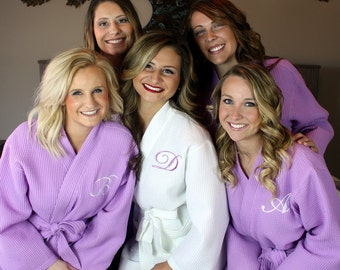 Bridesmaid Robe Set of 11 - FREE Embroidery -  Waffle Robe Set - Wedding Robes - Bridal Robes - Monogrammed - Embroidered - Bridesmaids