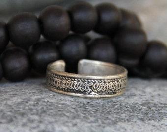 ring (ring) silver vintage man adjustable