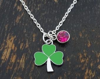 Shamrock Necklace, Shamrock Charm, Shamrock Pendant, Shamrock Jewelry, Clover Necklace, Three Leaf Clover, St Patricks Day, Clover Leaf
