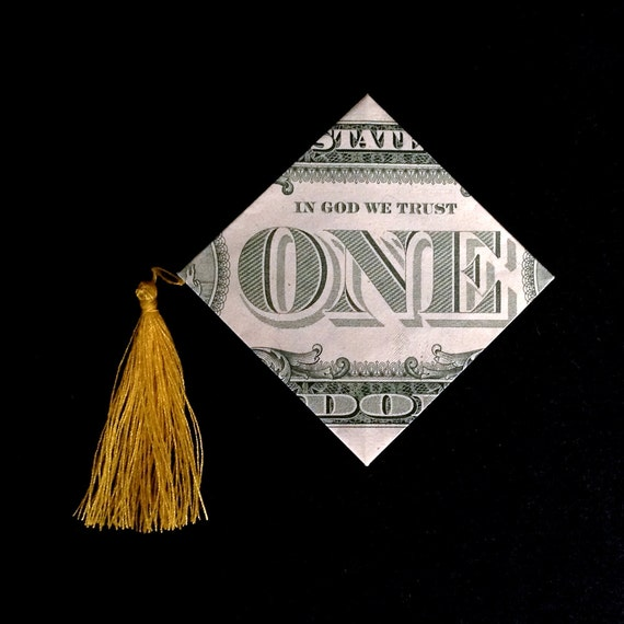 Money Origami GRADUATION CAP Art Gift Made out of Real 1 - photo#23