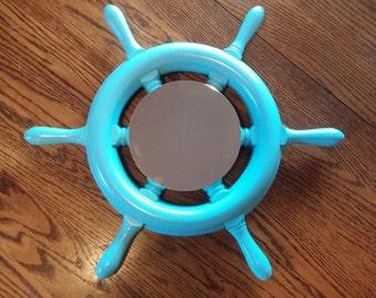 Ship Wheel Mirror