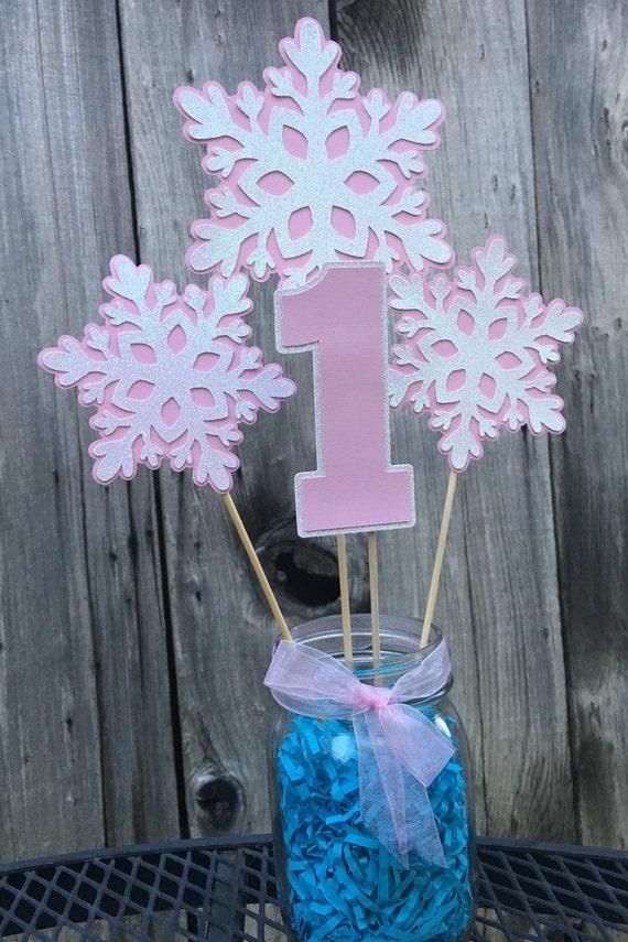 Items similar to snowflake centerpiece winter wonderland