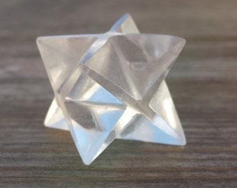 GEMSTONE MERKABA STAR Natural Clear Quartz (One)
