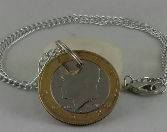 Kennedy half dollar necklace