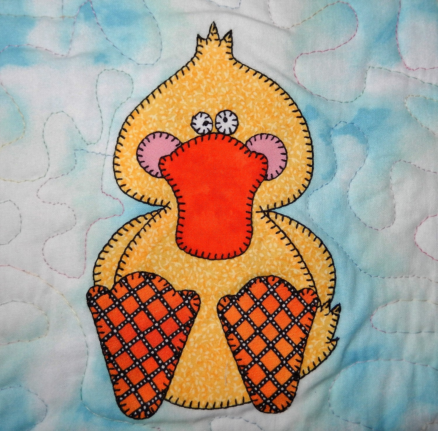 Duck Pdf Applique Pattern Farm Animal Applique Quilt Block