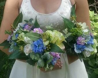 Silk Bouquet Bridesmaid Bouquet Bridal Bouquet Artificial Wedding Flowers