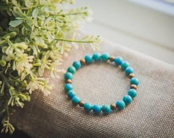 Blue picture jasper bracelet