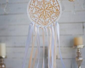 Moroccan white & gold dreamcatcher