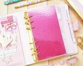 Hot Pink Glitter Dashboard, Personal Dashboard, Pink Glitter Dashboard, Medium Dashboard, Planner Dashboard, Page Lifter, Pink Dashboard