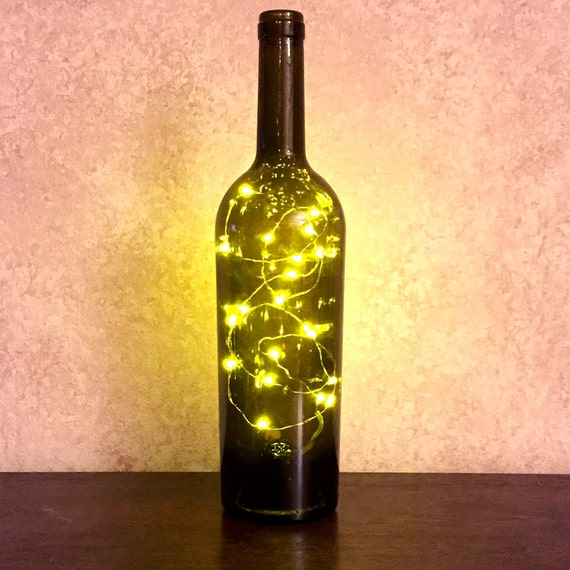 wine bottle with twinkle fairy battery powered lights. Black Bedroom Furniture Sets. Home Design Ideas