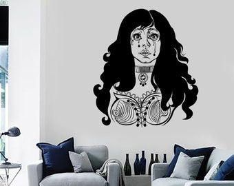 Wall Decal Sexy Crying Girl Woman With Large Breasts Hot Vinyl Sticker 1399dz