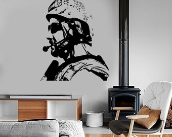 Wall Vinyl US Soldier Marine Seal Military Guaranteed Quality Decal Mural Art 1629dz