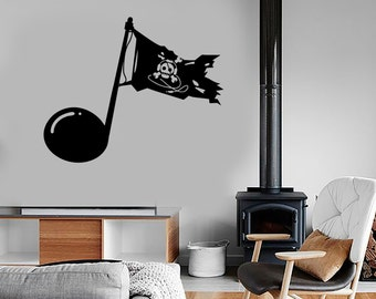 Wall Vinyl Music Pirates Notes Download Guaranteed Quality Decal 1693dz