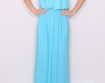 Aqua blue summer dress