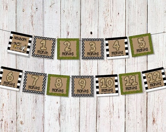 Where the Wild Things Are Banner, Milestone Banner, Monthly Banner, Birthday Party, First Birthday, Picture Banner, Wild ONE Birthday Party