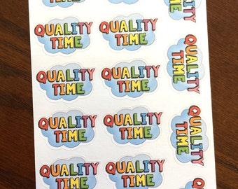 Clouds Quality Time Stickers