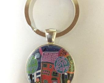 Artsy House Keychain