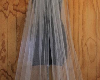"""One tier raw edge veil 72"""" length"""