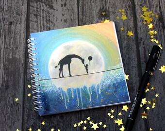 Dream Big, Blank Note Pad, giraffe lover gift, UK Seller.