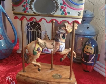 Carousel Music Box, Willitts Designs, Tobin Fraley Carousel, American Carousel Collection, Porcelain Carousel Horse, Collectible Carousel