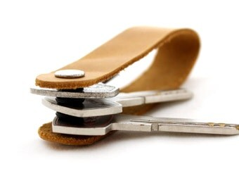 Leather Key Holder Leather Key Organizer Leather Key Chain Genuine Leather Keychain Key fob Leather key loop 100% Hand made