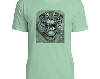 Mintage Roaring Tiger  Mens Fine Jersey T-Shirt