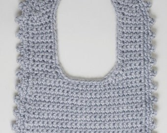 Crochet Baby Bib - Elephant
