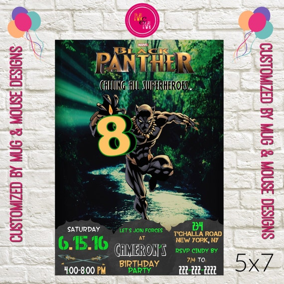 Instant Download Black Panther 2 Birthday Invitation