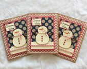 Christmas In July/ CIJ/ Patriotic Snowmen Cards/ Christmas Cards/ Snowman/ Patriotic Christmas