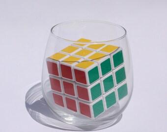 Rubiks Cube in Glass
