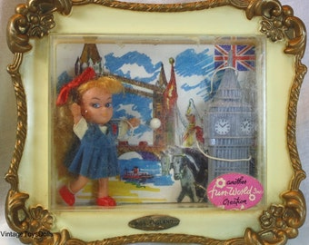 Vintage Liddle Kiddle Kopy Doll Miss England Picture Pals By Fun World