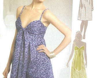 Womans Halter Top Dress Sewing Pattern UNCUT McCall's M5381 Miss Size 4-12
