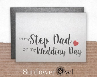 To my step dad on my wedding day wedding thank you card step father of the bride groom gift note to my step parents on my wedding day