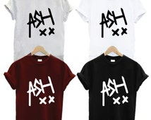 Ash XX Shirt - Ashton Irwin Boy Band Tee Pop Rock n Roll Music Skull Bone Band Logo Unisex T Shirt Black White Maroon Grey Shirt Tee Shirts