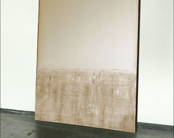 XXL large-format, LARGE, beige _weiss_komposition_II, unique, original!
