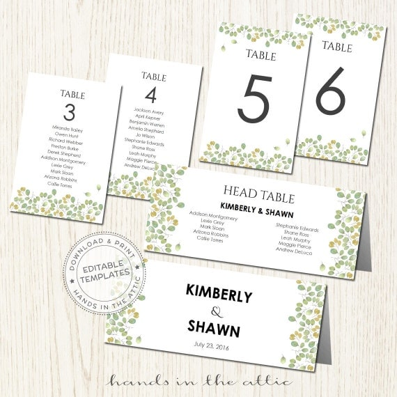 editable seating cards for wedding printable table. Black Bedroom Furniture Sets. Home Design Ideas