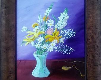 "Original Oil - ""Elégance intemporelle"" - Framed 16 x 20"" Gallery Canvas"