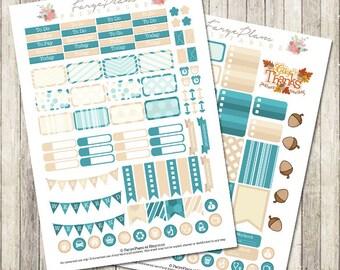 November monthly stickers kit printable PDF for Erin Condren Lifeplanner, Filofax, Happy Planner, scrapbooking / INSTANT DOWNLOAD
