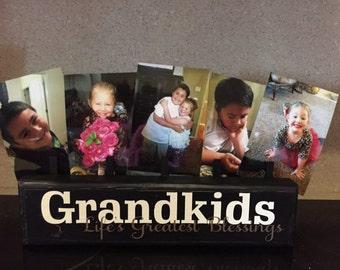 Grandparent Gift, Grandparents Photo Block, Grandkids Picture frame, Grandparent Picture Frame