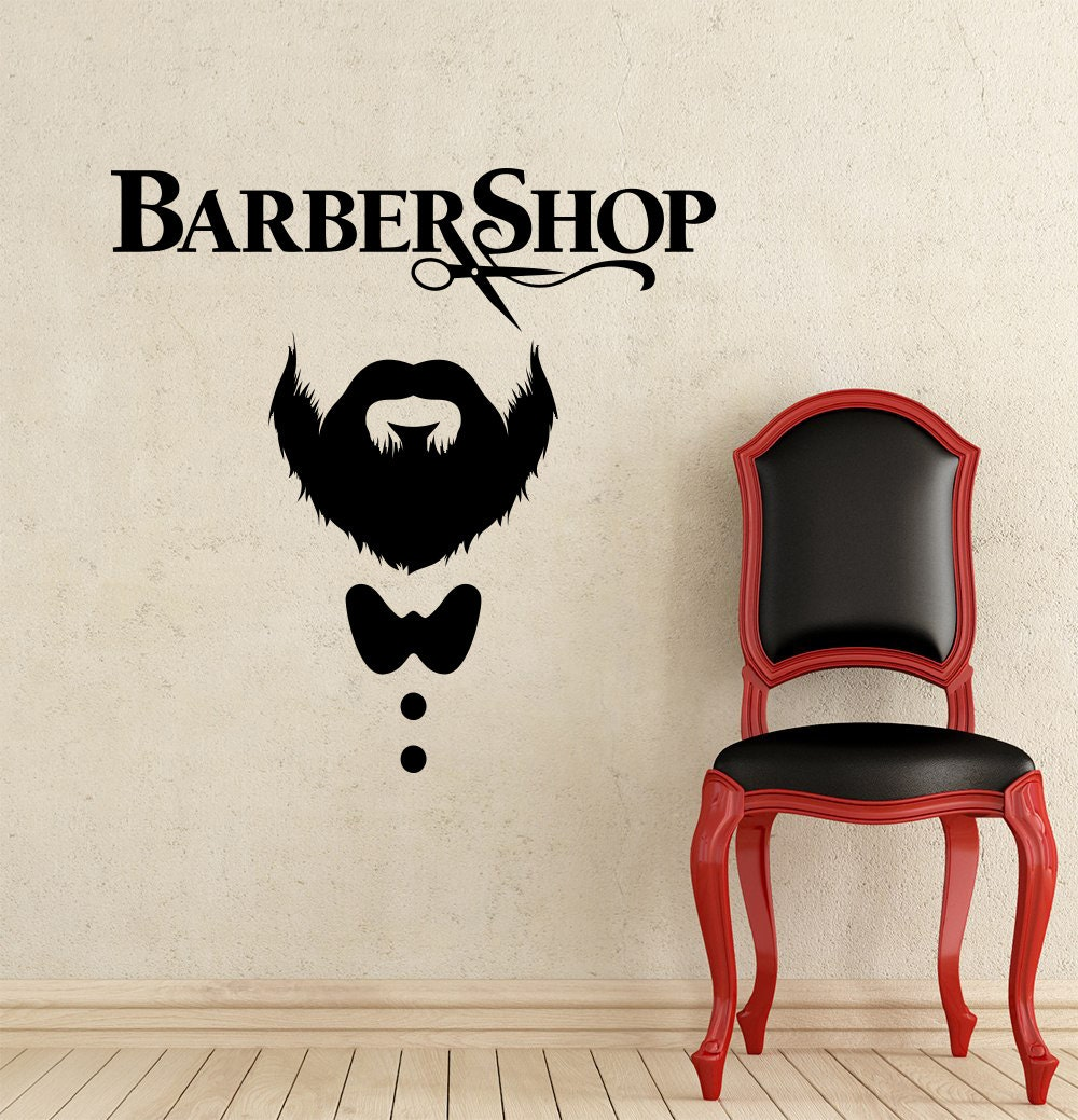 Barber shop wall decal hairdressing salon vinyl sticker decals - Stickers salon design ...