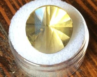Outstanding Oro Verde Quartz Round Fancy Cut Light Green 16mm Precious Gemstone Rare Mine 10.8ct  Faceted Stone A354