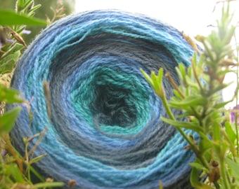 100 г. Kauni Aqua. пряжи для ручного и машинного вязания. Kauni Шерсть, Self-Striping Пряжа, Сделано в Эстония
