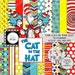 Dr Seuss Cat In The Hat Digital Paper Pack - 30 Papers - 21 Clipart - SIZE 12x12 - Printable Paper - Digital Scrapbooking -Instant Download-