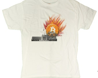 Men's Bitcoin Smashes The Federal Reserve T-Shirt