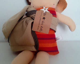 Porteadora doll with baby and cloth