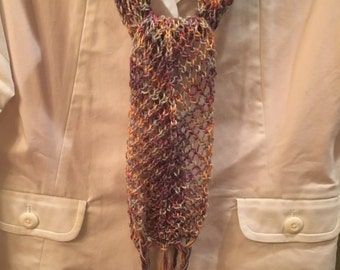 open weave lacey scarf