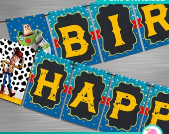 Toy Story Print Yourself Party Banner, Toy Story Birthday Banner, Toy Story Party DIY