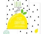 Lemon Invitation   Fruit Invitation   Lemonade Invitation - 5x7 with reverse side