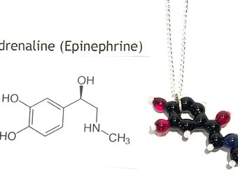 Glass Adrenaline Molecule Necklace