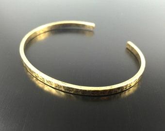 Gold Cuff Bracelet, Gold Bracelet, Hammered Bracelet, Gold Hammered Bracelet, Antique Gold Bracelet, Cuff Bracelet, Hammered Cuff Bracelet